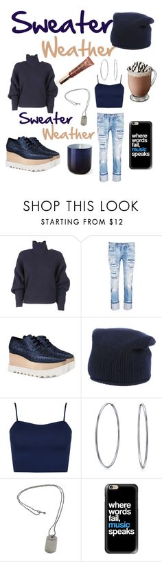 """""""Sweater Weather!"""" by mandimwpink ❤ liked on Polyvore featuring Balenciaga, Tortoise, STELLA McCARTNEY, Stefanel, WearAll, Bling Jewelry, Tiffany & Co., Casetify, Jonathan Adler and Sweater"""