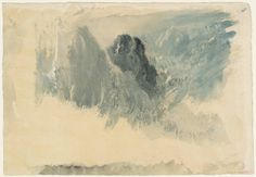 j.m.w. turner - gouache + watercolour on paper - storm clouds at sea (c. 1820-30)