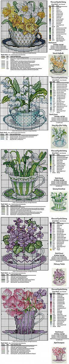 Цветочный календарь / Схемы вышивки крестиком / PassionForum - мастер-классы по рукоделию