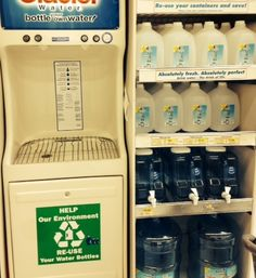 Save money and our environment by using water refilling stations and news on the new outdoor outfitters store at Easton.