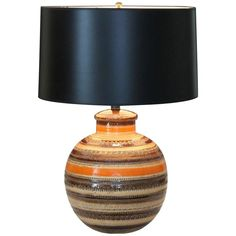 Bitossi Londi Rimini Raymor MCM Sahara Decor Pottery Italian Ceramic Lamp   From a unique collection of antique and modern table lamps at https://www.1stdibs.com/furniture/lighting/table-lamps/