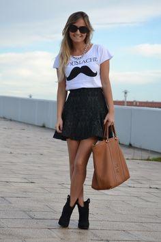 Looks con faldas negras - Trendtation