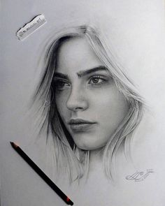 Learn to Draw Realistic Portraits in Pencil Graphite Art, Graphite Drawings, Realistic Pencil Drawings, Pencil Art Drawings, Girl Drawing Sketches, Sketch Painting, Pencil Portrait, Portrait Art, Watercolor Portrait Tutorial