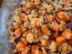 Buffalo Chicken and Sweet Potato Meatza - PaleOMG