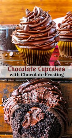 The best small batch chocolate cupcakes recipe ever! So fluffy, moist and decade… The best small batch chocolate cupcakes recipe ever! So fluffy, moist and decadent chocolate cupcakes piled high with rich chocolate frosting. Köstliche Desserts, Best Dessert Recipes, Cupcake Recipes, Baking Recipes, Delicious Desserts, Cupcake Cakes, Small Desserts, Italian Desserts, Recipes Dinner