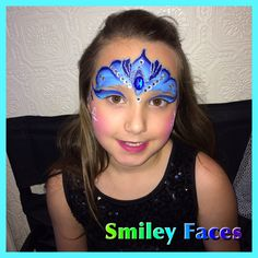 Queen Elsa Face Painting from frozen.  #queenElsa #facepainting #frozenfacepainting