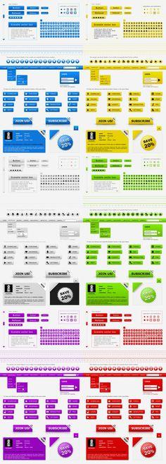 Web kit interface layout pack