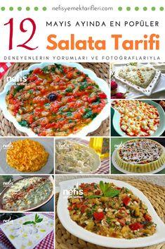 Mayın ayının en beğenilen salata tarifleri listesi! Ana yemeğin yanına 12 çeşit serinleten yoğurtlu, köz sebzeli iştah açan salata ve meze tarifleri, resimleri.