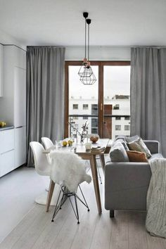 Luxury Scandinavian Interior Design Ideas For Small Apartment - Page 3 of 41 Small Living Rooms, Living Room Designs, Living Room Decor, Small Dining, Dining Room, Dinning Table, Small Apartment Interior, Apartment Ideas, Interior Minimalista