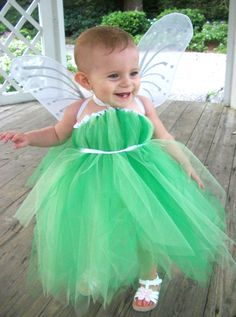 Tinkerbell Fairy Tutu Dress Infant Toddler by OhHoneyBowtique, $45.00
