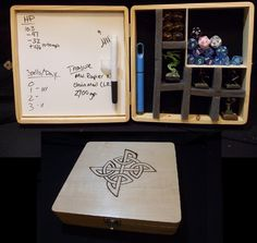 RPG BOX: minature & dice Case W/ Dry earase For Dnd Pathfinder and RPG | eBay. --This would be handy! Except, we don't do miniatures. But, if it was big enough to hold books, too... Or at least my group gear notebook... Epic! ~K