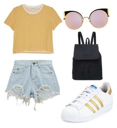 """""""Sunny Days."""" by becca081899 on Polyvore featuring Chicnova Fashion, Monki, adidas and Fendi"""