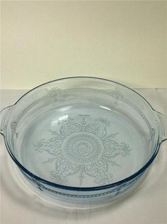 Fire King Sapphire Blue Philbe Handled Glass Casserole Dish