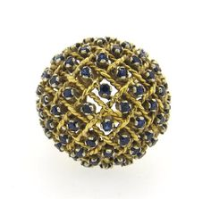 18k Gold Sapphire Bombe Ring Featured in our upcoming auction on November 2, 2015 11:00AM EST!