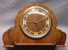 Vintage British Art Deco Clarion Clock Co. Chiming Mantle Clock