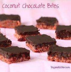 Vegan Richa: Zesty Pink Lemon Coconut Chocolate Bites. Vegan Glutenfree Recipe