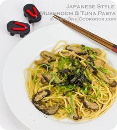 Japanese Style Mushroom & Tuna Pasta | Easy Japanese Recipes at JustOneCookbook.com