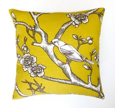 Mustard yellow cushion cover mustard yellow by HenriettaAndMorty, $29.95