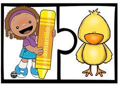 Dominó de los colores Spanish Teaching Resources, Spanish Activities, Montessori Activities, Color Activities, Preschool Worksheets, Hands On Activities, Toddler Activities, Spanish Colors, Color Games