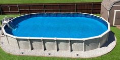 Above Ground Pool Installation Photos - The Pool Factory Homemade Swimming Pools, Swimming Pools Backyard, Oval Above Ground Pools, In Ground Pools, Pool Ideas, Backyard Ideas, Above Ground Pool Landscaping, Pool Installation, Building A Pool