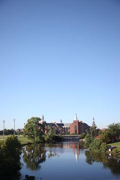 Baylor University's gorgeous sciences building on the Brazos River.