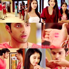 """""""He wanted to wish her by shaking hands but lipstick mark was on his palm😜"""" Crush Pics, Niti Taylor, Shake Hands, Cute Memes, Cute Celebrities, Everything Is Awesome, Funny Bunnies, Tv Actors, Forever Love"""
