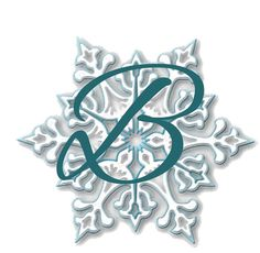 SNOWFLAKE ALPHABET Word Art Letters Numbers and by CraftFairy7