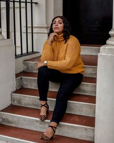 Fashion Inspo - Outfit Ideas - Midsize Style Source by ideas gorditas Plus Size Winter Outfits, Plus Size Outfits, Plus Size Fashion Blog, Curvy Fashion, Look Jean, Winter Stil, Fall Winter, Curvy Girl Outfits, Looks Plus Size
