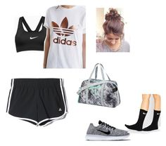 """""""Untitled #15"""" by mayarose1704 ❤ liked on Polyvore featuring interior, interiors, interior design, home, home decor, interior decorating, adidas, NIKE and Puma"""