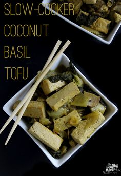 Slow cooker coconut-basil tofu I The Healthy Maven