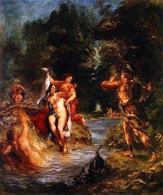 Eugène Delacroix - Été - Diane et Actéon