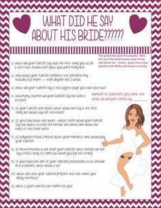 Does the bride know the groom bridal shower game sexy bride bridal shower game solutioingenieria Gallery