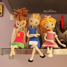 Crochetdolls from Moscow @svetatori Девочки расположи...Instagram photo | Websta (Webstagram)♡