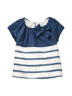 Gap   Gathered two-tone top