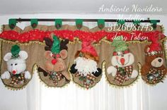 Cenefa Christmas Crafts Sewing, Christmas Elf, Rustic Christmas, Sewing Crafts, Xmas, Christmas Ornaments, Christmas Things, Crafts To Sell, Diy And Crafts