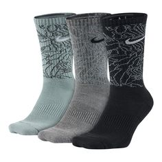 db68f1579 Nike Dri-fit Triple Fly Camo Crew 3-pair Training Socks Sx5412 908 Size L 8- 12 for sale online | eBay