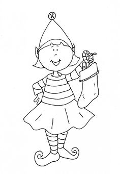 Coloringsco Elf On The Shelf Coloring Pages For Girls