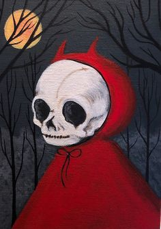 """A few of my favorites from a series of paintings I've been working on titled, """"Halloween All Year"""" Creepy Art, Weird Art, Art Sketches, Art Drawings, Indie Drawings, Fantasy Drawings, Bd Art, Posca Art, Art Ancien"""