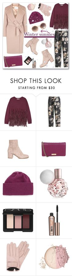 """Winter sunnies"" by bogira ❤ liked on Polyvore featuring Elizabeth and James, J.Crew, MaxMara, Kate Spade, Portolano, NARS Cosmetics, Benefit, Mario Portolano, Linda Farrow and fashiontrend"