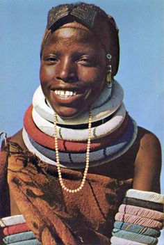 Africa | Young Ndebele woman.  South Africa || Postcard image