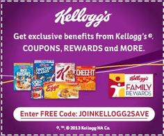 Kellogg's Family Rewards: 100 FREE points!
