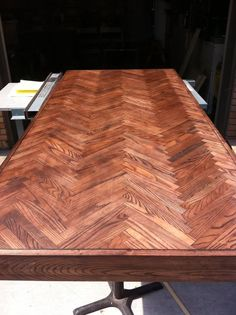 diy herringbone table