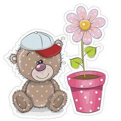 Стена Free Stickers, Printable Stickers, Planner Stickers, Tatty Teddy, Teddy Bear, Urso Bear, Clip Art Pictures, Bear Theme, Baby Shawer