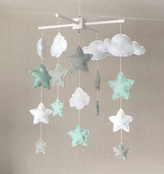 Mobile bébé mobile lit bébé des nuages et des étoiles