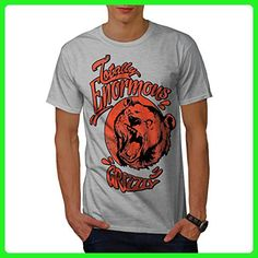 Grizzly Brown Bear Enormous Cub Men L T-shirt | Wellcoda - Animal shirts (*Amazon Partner-Link)