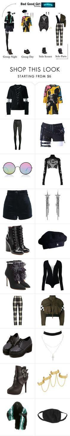 """""""Bad Good Girl ~ Yeona"""" by nsgirls ❤ liked on Polyvore featuring Filles à papa, Moschino, Gucci, Sunday Somewhere, Illustrated People, Ben-Amun, Marc Jacobs, Chanel, Dsquared2 and T By Alexander Wang"""