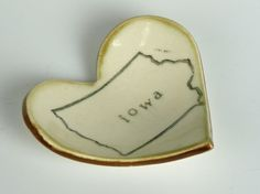 Iowa Heart Ring Bowl by Amanda Barr on Etsy.