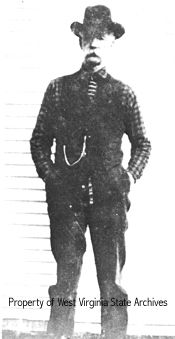 """Floyd Hatfield, cousin of """"Devil Anse,"""" who was accused by Randolph McCoy of stealing a hog. Although a jury found in favor of Floyd Hatfield, his acquittal has been viewed by some as one of the precipitating factors of the Hatfield-McCoy Feud."""