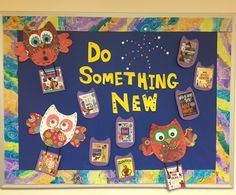 Do Something New, library display for January
