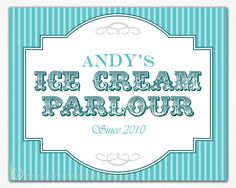 Vintage Cookie Signs | ... Snack, Ice Cream, Cookie...) Buffet Sign - Vintage Stripe Collection